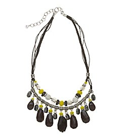 Ruby Rd.® Silvertone Two Row Beaded Shaky Necklace