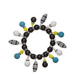 Ruby Rd.® Silvertone Beaded Fringe Bracelet