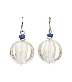 Ruby Rd.® Silvertone Round Bead Drop Earrings