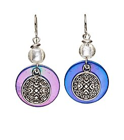 Ruby Rd.® Silvertone Disc Overlay Earrings