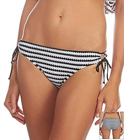 Kenneth Cole REACTION® Crochet Stripe Adjustable Swim Bottoms