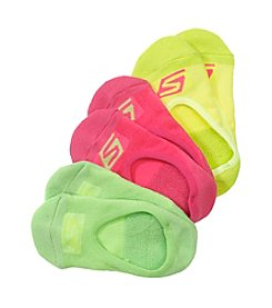 Skechers® 3 Pack Cushioned Liner Socks