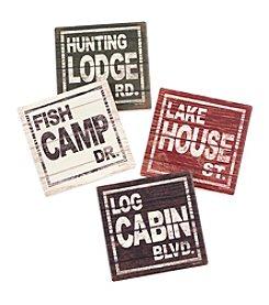 Ruff Hewn Cabin 4-pk. Stone Coasters