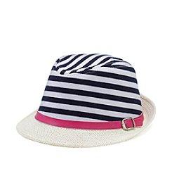 Miss Attitude Stripe Fedora Hat