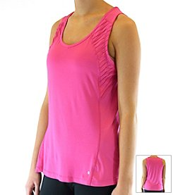Ryka Pin Tuck Sleeveless Top