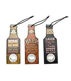 Boston Warehouse Set Of Three Bottle Shaped Bottle Openers
