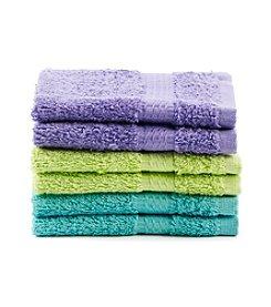 LivingQuarters 6-pk. Back to School Washcloths