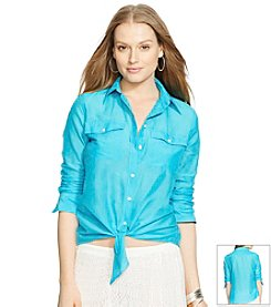 Lauren Ralph Lauren® Silk-Cotton Blend Shirt