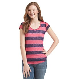 w.f. Striped Slub Tee
