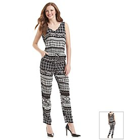 Be Bop Printed Jumpsuit