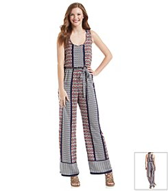 Be Bop Printed Palazzo Jumpsuit