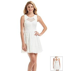 Trixxi® Lace Skater Dress