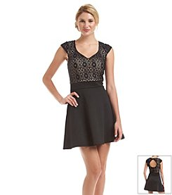 Trixxi® Lace Scuba Skater Dress