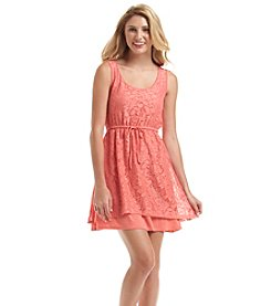 Kensie® Lace Drawstring Dress