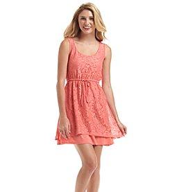 Kensie® Lace Drawstring Dress
