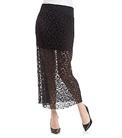 Kensie® Botanical Lace Maxi Skirt