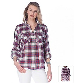 Sam Edelman™ Plaid Collared Shirt