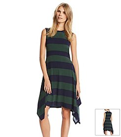 KIIND OF Sharkbite Hem Stripe Dress