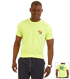 Nautica® Men's Short Sleeve Fish Back Crew