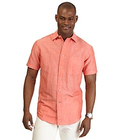Nautica® Men's Short Sleeve Solid Woven