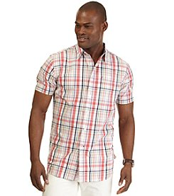 Nautica® Men's Short Sleeve Medium Plaid Woven