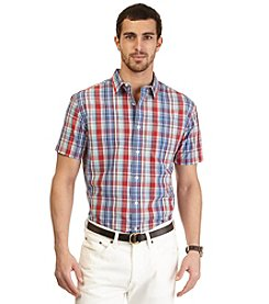 Nautica® Men's Short Sleeve Large Plaid Woven