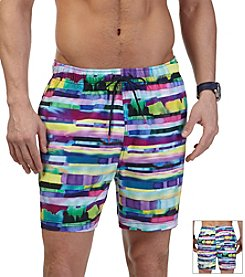 Nautica® Men's Abstract Stripe Trunks