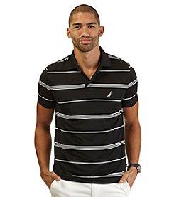 Nautica® Men's Short Sleeve Stripe Tech Polo