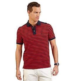 Nautica® Men's Short Sleeve 50-50 Stripe Polo