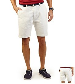 Nautica® Men's Anchor Twill Flat Front Short