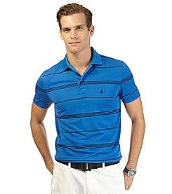 Nautica® Men's Short Sleeve Tech Pique Stripe Polo
