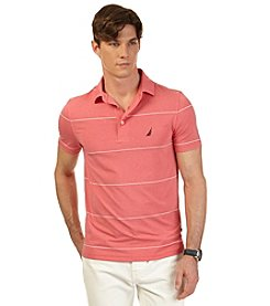Nautica® Men's Short Sleeve Heather Stripe Tech Polo