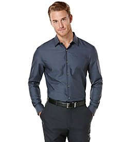 Perry Ellis® Men's Long Sleeve Solid Woven Shirt
