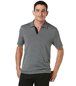 Perry Ellis® Men's Short Sleeve Jacquard Open Polo