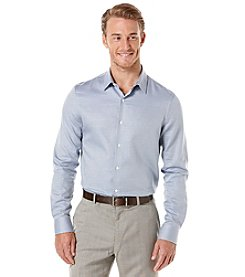Perry Ellis® Men's Long Sleeve Slim Fit Micro Herringbone Woven