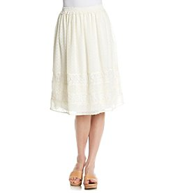 Black Rainn™ Pleated Polka Dot Skirt