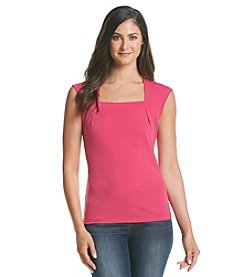 Kasper® Square Neck Top