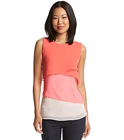 Vince Camuto® Colorblock Layer Top