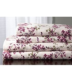 Elite Home Products Brighton Floral Sheet Sets