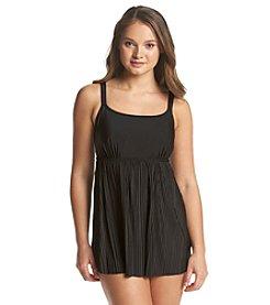 Studio Works® Solid Pleated Swim Dress