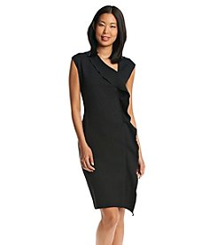 Anne Klein® Ruffle Neck Dress
