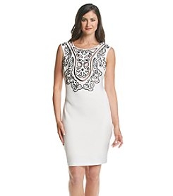 JAX® Beaded Laser Cut Dress