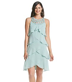 S.L. Fashions Tiered Beaded Dress