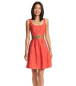 Nine West® Belted Fit And Flare Dress