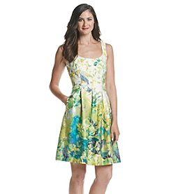 Nine West® Printed Fit And Flare Dress