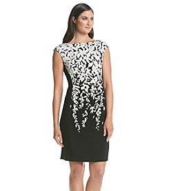 Lauren  Ralph Lauren® Printed Two Tone Dress