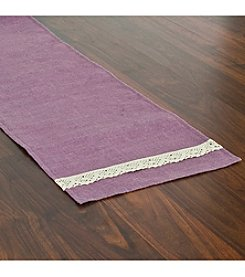 Chooty® Lavender Burlap with Spider Lace Table Runner