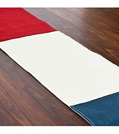 Chooty® Red, White and Blue Burlap Table Runner