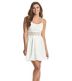 Trixxi® Crochet Eyelet Tank Dress