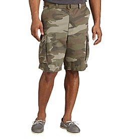 True Nation™ Men's Big & Tall Twill Belted Cargo Shorts